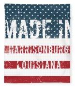 Made In Harrisonburg, Louisiana Fleece Blanket