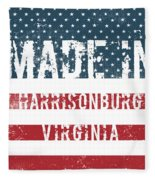 Made In Harrisonburg, Virginia Fleece Blanket
