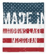 Made In Higgins Lake, Michigan Fleece Blanket