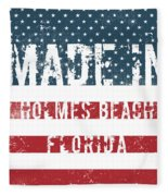 Made In Holmes Beach, Florida Fleece Blanket