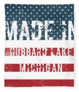 Made In Hubbard Lake, Michigan Fleece Blanket
