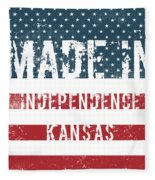Made In Independence, Kansas Fleece Blanket