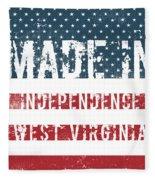 Made In Independence, West Virginia Fleece Blanket