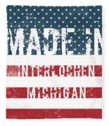 Made In Interlochen, Michigan Fleece Blanket