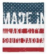 Made In Lake City, South Dakota Fleece Blanket