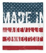 Made In Lakeville, Connecticut Fleece Blanket