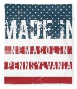 Made In Nemacolin, Pennsylvania Fleece Blanket