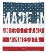 Made In Nerstrand, Minnesota Fleece Blanket