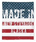 Made In New Stuyahok, Alaska Fleece Blanket