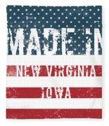 Made In New Virginia, Iowa Fleece Blanket