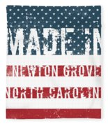 Made In Newton Grove, North Carolina Fleece Blanket