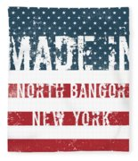 Made In North Bangor, New York Fleece Blanket