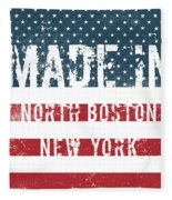 Made In North Boston, New York Fleece Blanket