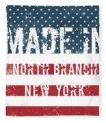 Made In North Branch, New York Fleece Blanket