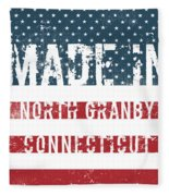 Made In North Granby, Connecticut Fleece Blanket