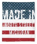 Made In North Street, Michigan Fleece Blanket