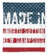 Made In North Sutton, New Hampshire Fleece Blanket