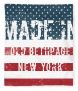 Made In Old Bethpage, New York Fleece Blanket
