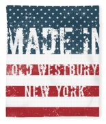 Made In Old Westbury, New York Fleece Blanket