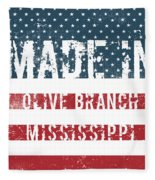 Made In Olive Branch, Mississippi Fleece Blanket