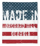 Made In Orchard Hill, Georgia Fleece Blanket