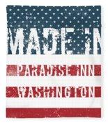 Made In Paradise Inn, Washington Fleece Blanket