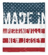 Made In Perrineville, New Jersey Fleece Blanket