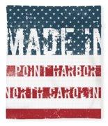 Made In Point Harbor, North Carolina Fleece Blanket