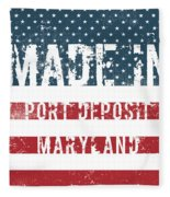 Made In Port Deposit, Maryland Fleece Blanket