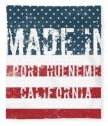 Made In Port Hueneme, California Fleece Blanket