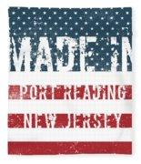 Made In Port Reading, New Jersey Fleece Blanket