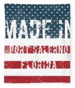 Made In Port Salerno, Florida Fleece Blanket
