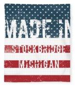Made In Stockbridge, Michigan Fleece Blanket