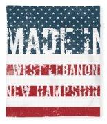 Made In West Lebanon, New Hampshire Fleece Blanket