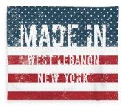 Made In West Lebanon, New York Fleece Blanket