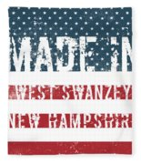 Made In West Swanzey, New Hampshire Fleece Blanket