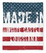 Made In White Castle, Louisiana Fleece Blanket