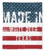Made In White Deer, Texas Fleece Blanket