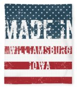 Made In Williamsburg, Iowa Fleece Blanket