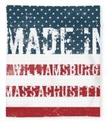 Made In Williamsburg, Massachusetts Fleece Blanket