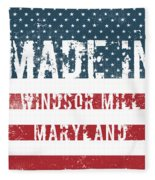Made In Windsor Mill, Maryland Fleece Blanket