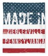 Made In Zieglerville, Pennsylvania Fleece Blanket