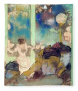 Mademoiselle Becat At The Cafe Des Ambassadeurs  Fleece Blanket