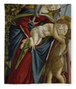 Madonna And Child And The Young St John The Baptist Fleece Blanket