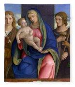 Madonna And Child With Saints Fleece Blanket