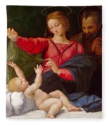 Madonna Of Loreto Fleece Blanket