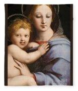 Madonna Of The Candelabra Fleece Blanket