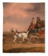 Mail Coaches On The Road Fleece Blanket