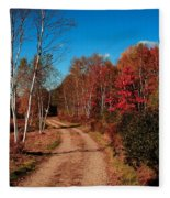 Maine October Fleece Blanket