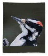 Male Hairy Woodpecker Fleece Blanket